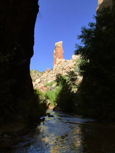 Hackberry Canyon - The Tall Stone Pillar